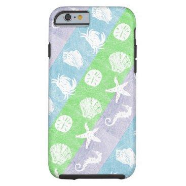 Pastel Nautical Sea Creatures Tough iPhone 6 Case