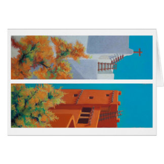 Pastel New Mexico Morning and Pueblo Autumn Card
