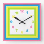 Pastel Nursery Clock