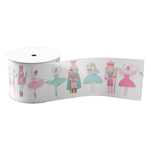 Pastel Nutcracker Ballet Pink Christmas Ribbon