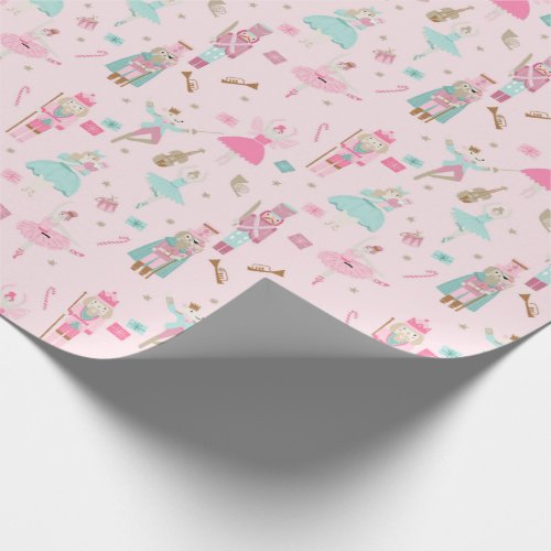 Pastel Nutcracker Ballet Pink Wrapping Paper