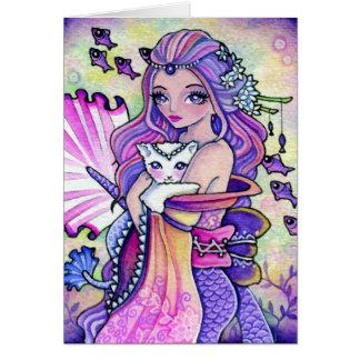 Pastel Ocean Fantasy - blank card