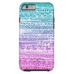 Pastel Ombre Aztec Tough iPhone 6 Case