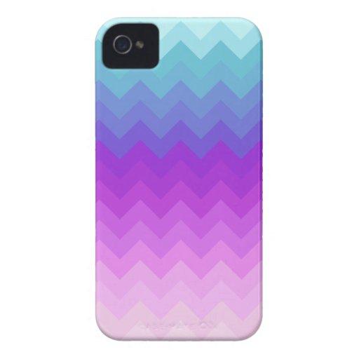 Pastel Ombre Chevron Pattern iPhone 4 Case-Mate Cases
