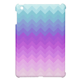 Pastel Ombre Chevron Pattern iPad Mini Cases