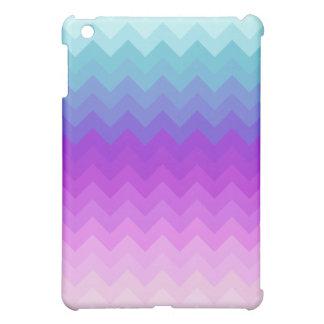 Pastel Ombre Chevron Pattern iPad Mini Cases