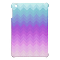Pastel Ombre Chevron Pattern iPad Mini Cover