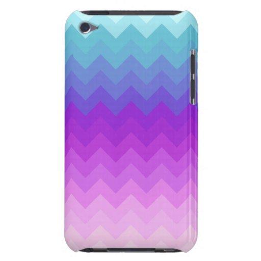 Pastel Ombre Chevron Pattern iPod Case-Mate Case