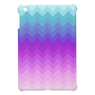 Pastel Ombre Chevron Patttern iPad Mini Case