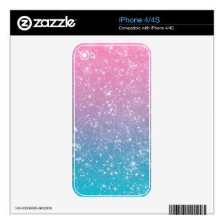 Pastel Ombre Glitter Decals For The iPhone 4