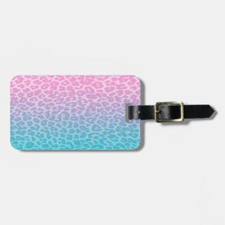Pastel Ombre Leopard Bag Tags