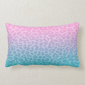 Pastel Ombre Leopard Throw Pillow