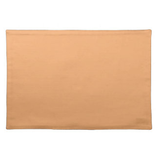 Pastel Orange Background on a Placemat Cloth Placemat
