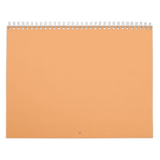 Pastel Orange Backgrounds on a Calendar