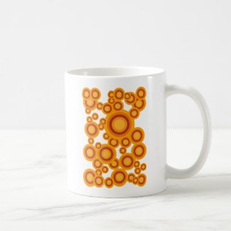 pastel orange circle Coffee Mug