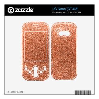 Pastel orange glitter decals for the LG neon
