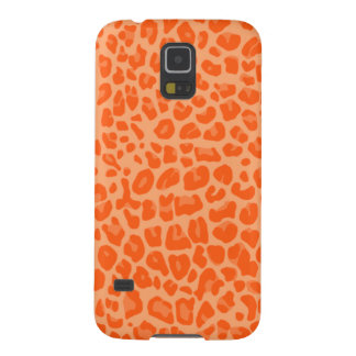 Pastel orange leopard print pattern galaxy s5 cover