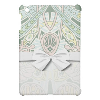 pastel ornate abstract art nouveau design iPad mini cases