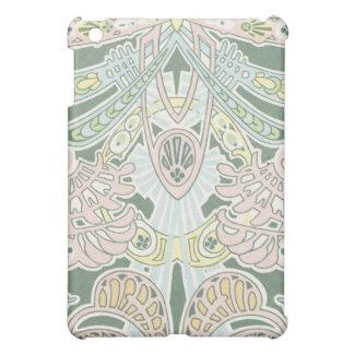 pastel ornate abstract art nouveau design iPad mini cover