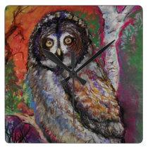 Pastel Owl Clock
