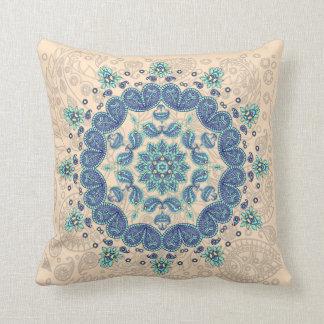 Pastel Paisley Kaleidoscope Throw Pillow