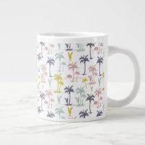 Pastel Palm Tree by the Beach Pattern Giant Coffee Mug