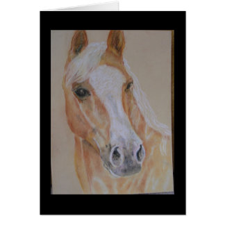 pastel palomino horse cards