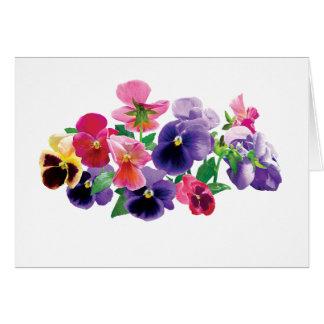 Pastel Pansies Card