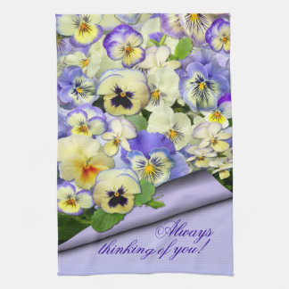 Pastel Pansies ~ Kitchen Towel # 2