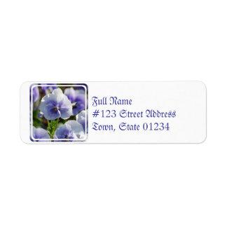 Pastel Pansies Return Address Label