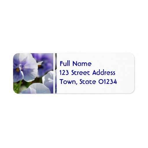 Pastel Pansies Custom Return Address Labels