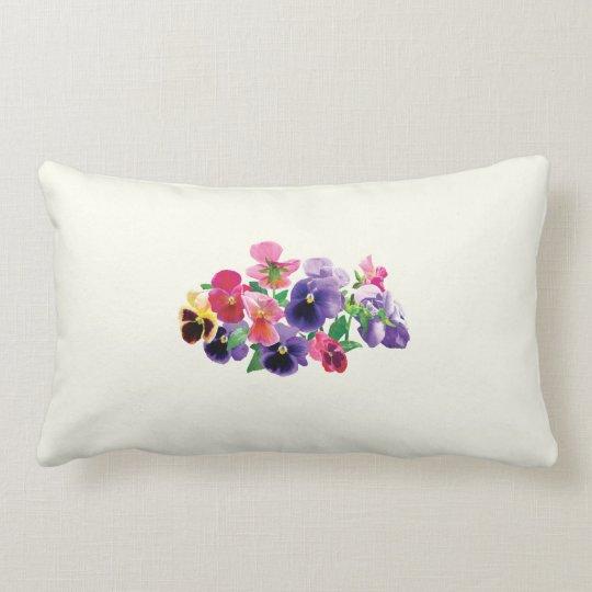 Pastel Pansies Lumbar Pillow