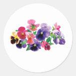 Pastel Pansies Sticker