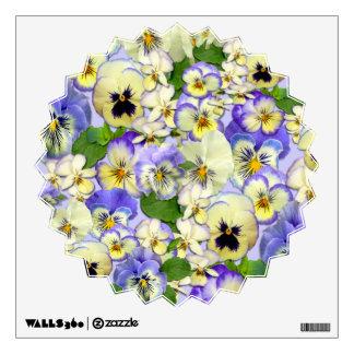 Pastel Pansies ~ Wall Decal