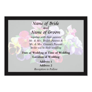 Pastel Pansies Wedding Products Card