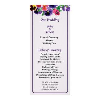 Pastel Pansies Wedding Program