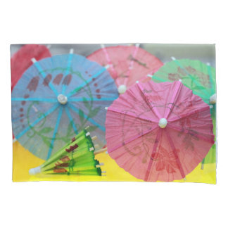 Pastel Paper Umbrellas Pillow Case