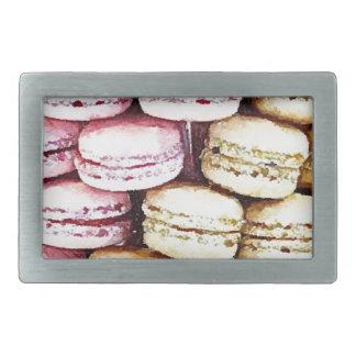 Pastel Parisian Macarons Belt Buckle