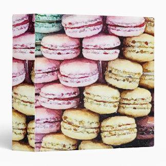 Pastel Parisian Macarons Binder