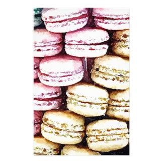 Pastel Parisian Macarons Stationery