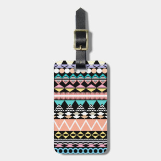 Pastel Party Aztec Pattern Bag Tag