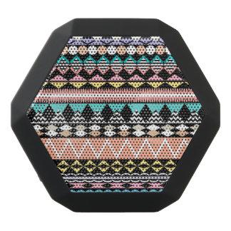 Pastel Party Aztec Pattern Black Bluetooth Speaker