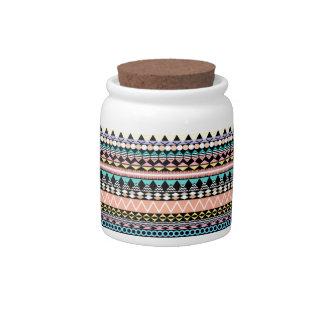 Pastel Party Aztec Pattern Candy Jars