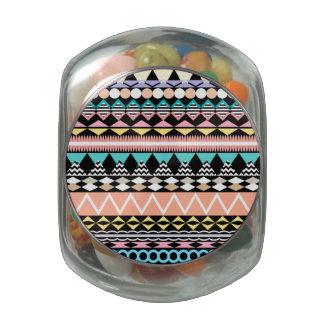 Pastel Party Aztec Pattern Jelly Belly Candy Jar