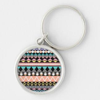 Pastel Party Aztec Pattern Keychain