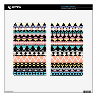 Pastel Party Aztec Pattern Kindle Fire Skin
