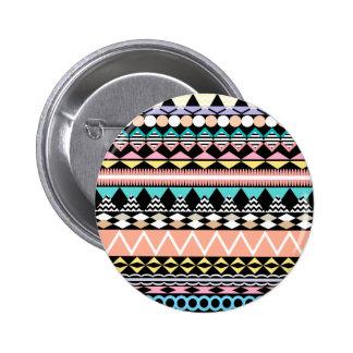 Pastel Party Aztec Pattern Pinback Button
