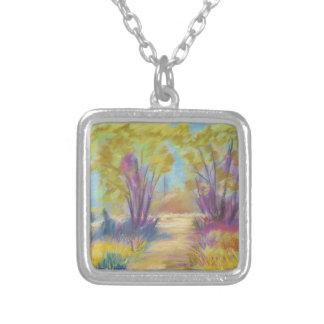 Pastel Path Square Necklace