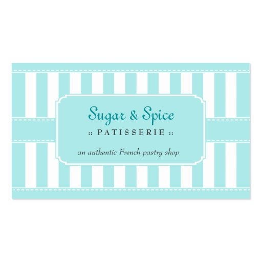 Pastel Patisserie Business Card (front side)