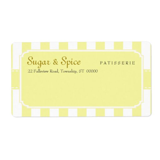 Pastel Patisserie Shipping Label